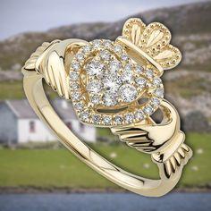 Irish Wedding Rings, Irish Rings, Celtic Rings, Diamond Claddagh Ring, Claddagh Rings, Loyalty Friendship, Irish Clothing, Irish Jewelry, Irish Celtic