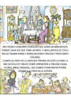 La pequeña historia de joan miro Joan Miro, Comics, Fictional Characters, Children's Books, Kid Art, Historia, Kids Education, Preschool Education, Color Mix