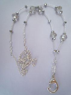 Beaded Lanyards~Visit www.lanyardelegance.com for Beaded Lanyards from Swarovski Crystals and Elegant Eyeglass holder for women.