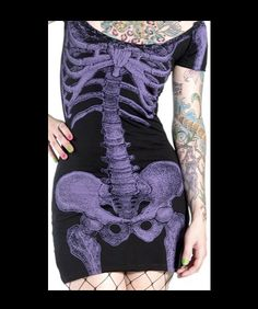 Purple Skeleton Dress by Kreepsville - http://www.amazon.com/gp/product/B00ERN3JQI/ref=as_li_ss_tl?ie=UTF8&camp=1789&creative=390957&creativeASIN=B00ERN3JQI&linkCode=as2&tag=goreydetails-20