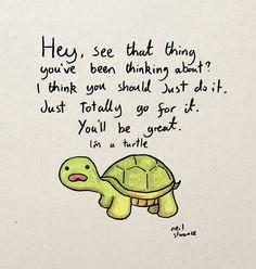 Turtle Advice A4/A5 Digital Print by artbyneilslorance on Etsy