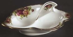 2-Part Relish in the Old Country Roses pattern by Royal Albert China