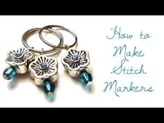 How to Make Dangle Bead Stitch Markers for Knitting - YouTube