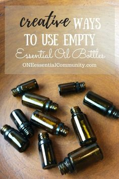 """Love this!! so many creative & practical uses for empty essential oil bottles! hand sanitizer, pillow spray, make-ahead diffuser blends, owie spray, personal inhalers, """"Lysol"""" disinfecting spray, skin toner, face serum, bath salts, air freshener, anti-itch spray, perfume, and LOTS MORE!!"""