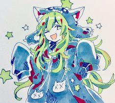 Anime Wolf, Manga Anime, Anime Art, The Wolf Game, Tsundere, Manga Pictures, Aesthetic Art, Cartoon Art, Kawaii Anime
