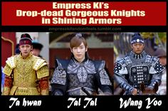 kyaaaahh!!! *squeals & faints dead*gawwd these men are just really drop-dead gorgeous!!!*sigh* Empress Ki is indeed lucky!!!~shammy (> / / / / <)