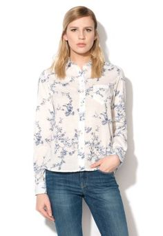 Camasa Pepe Jeans imprimeu floral casual Pepe Jeans, Dress Ideas, Blouse, Long Sleeve, Floral, Casual, Sleeves, Tops, Dresses