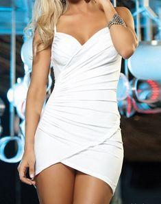 Sexy Women's Solid Color Spaghetti Strap Wrapround Dress