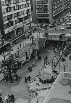 Promenade Heerlen met voetgangerstunnel begin jaren tachtig