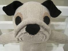 Pug Sock Dog by scooterandgoose, $30.00