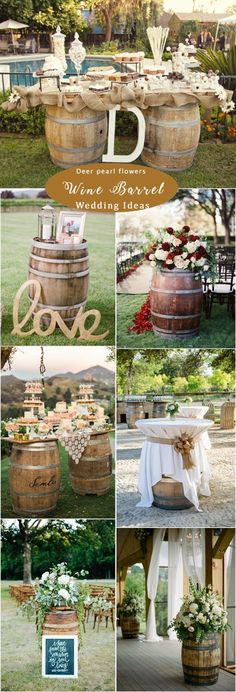 Rustic wine barrel wedding ideas / http://www.deerpearlflowers.com/rustic-woodsy-wedding-decor-ideas/  #rusticwedding #countrywedding #weddingdecor