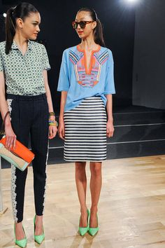 I'm kindof liking this top with that striped skirt ...maybe its too late at night.  J.Crew Spring 2013 | Pictures