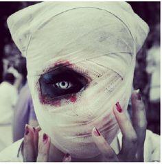 #nurse #makeup #costume #halloweenmarket #halloween  #костюм #медсестра #образ #страх Страшная медсестра на хэллоуин (фото)