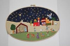 Resultado de imagen de pesebres de botones Christmas Clay, Christmas Nativity, Merry Christmas, Xmas, Christmas Ornaments, Jingle Bells, Quilts, Holiday Decor, Diy