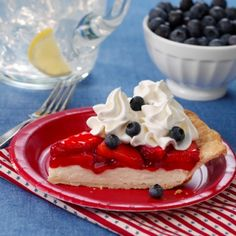 Berry Patriotic Pie for the 4th of July