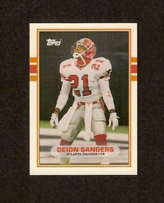74209fc2853 Deion Sanders 1989 Topps Traded Football Rookie Card (Atlanta Falcons) by  Topps.  0.01