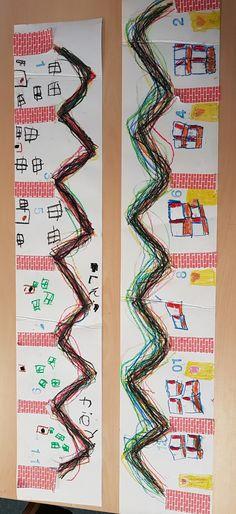 Met huisnummering Kindergarten, Fine Motor, Teaching, Early Education, Third, Salons, Manualidades, Graphic Design, Fine Motor Skills