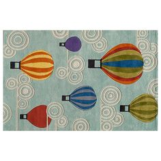 Momeni Lil Mo Whimsy Hot Air Balloon Rug - 8' x 10', Multicolor