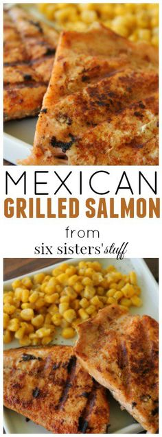 Recipe Chicken Fried Rice - How to Cook Chicken Fried Rice Mexican Grilled Salmon Recipe From Sixsistersstuff This Recipe Is Easy, Healthy And Perfect For Your Next Summer Dinner. Skewer Recipes, Fish Recipes, Seafood Recipes, Mexican Food Recipes, Cooking Recipes, Healthy Recipes, Tilapia Recipes, Grill Recipes, Pork Recipes