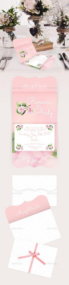 Envelope - Folded Wedding Invitation