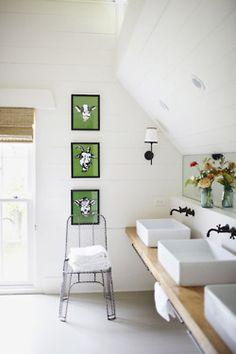 39 Stunning Modern Farmhouse Bathroom Decor - Go DIY Home Modern Farmhouse Bathroom, Interior Design, House Interior, Modern Farmhouse, Home, Childrens Bathroom, Interior, Bathroom Design, Home Decor