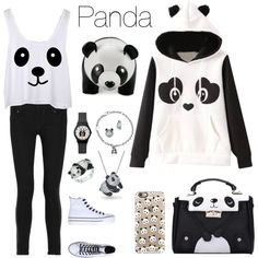 Panda ♣️ by natalialovesnutella on Polyvore featuring polyvore, fashion, style, Garcia, Pierre Balmain, Converse, Bling Jewelry, Kevin Jewelers, Casetify and Zuny
