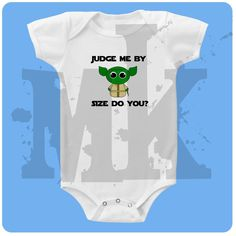 Yoda Star Wars baby onesie by muddykids on Etsy, $10.00