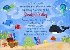 Under The Sea Baby Shower Or Birthday Invitation
