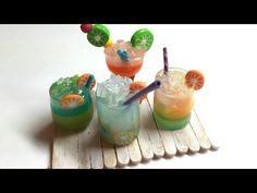 COCKTAIL- Polymer clay (Fimo) miniatures -Tutorial - YouTube