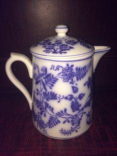 Antique Blue Onion Coffee Pot