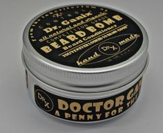 Beard Bomb All Natural and Organic Beard Tamer VEGAN by DrGanix
