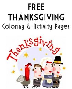 Thanksgiving FREE Coloring And Activity Pages Happy Sign To Color