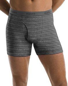 e8d8b76b9ab7 5 Hanes Men's TAGLESS® Ultimate Assorted Stripe/Solid Boxer Briefs Size S -  XL
