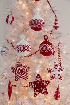 Ravelry: Holiday Stars and Balls Ornaments pattern by Laura Bain