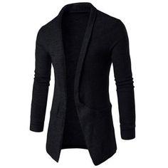 Texture Pocket Open Front Cardigan