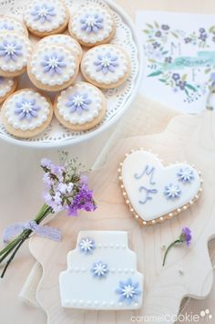 Galletas de boda | Caramel Cookie y tarjeta personalizada de Wedding Chicks