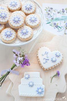 Galletas de boda | Caramel Cookie y tarjeta personalizada de Wedding Chicks