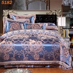 cornflower blue and silver retro style bohemian chic exotic western style sequin lace edge jacquard design full queen size bedding sets pinterest queen