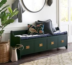 Need entryway inspiration? Shop Pottery Barn for stylish entryway ideas, furniture and decor. Create an elegant entryway or hallway that will wow family and friends. Entryway Furniture, Rustic Furniture, Home Furniture, Discount Furniture, Online Furniture, Foyer Bench, Small Entryways, Foyer Decorating, Repurposed Furniture