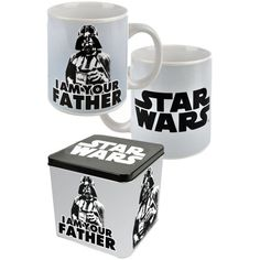 "Mug with gift tin. ""I am your father"". Stoneware, capacity: 300 ml."