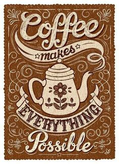 Coffee makes everything possible. #caffè #coffee