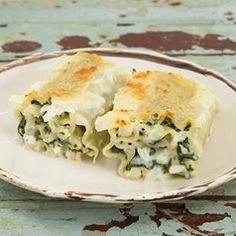 Florentine Lasagna Roll-Ups recipe from eatingwell.com