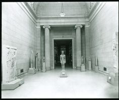 The Metropolitan Museum of Art, Wing J, 1st Floor, Gallery 1 (Greek and Roman Gallery); View of Classical Sculpture Hall, looking north. Photographed on February 21, 1937. Image © The Metropolitan Museum of Art