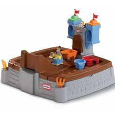 Found it at Wayfair - Little Tikes Castle Adventures Rectangular Sandbox with Cover Sandbox Sand, Kids Sandbox, Little Tikes Sandbox, Kids Castle, Backyard Play, Outdoor Play, Outdoor Toys, Outdoor Stuff, Outdoor Ideas