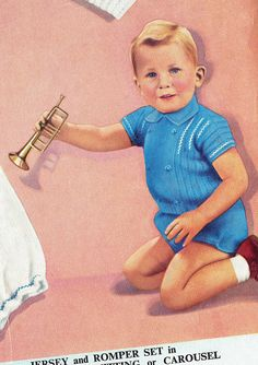 Shop for on Etsy, the place to express your creativity through the buying and selling of handmade and vintage goods. Vintage Knitting, Baby Knitting, Knitting Patterns, Crochet Patterns, Baby Christening, Sailor, Knit Crochet, 1950s, Easter 2018