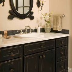 I M In The Process Of Painting My Bathroom Cabinets Black Vanity Design Pictures Remodel Decor And Ideas