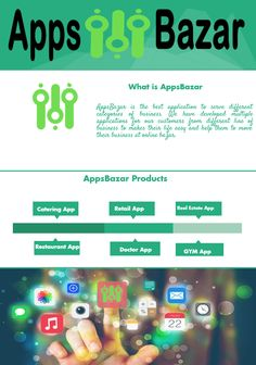 AppsBazar provides customizable apps services for a vendor like a doctor, gym, retail, catering, real estate, restaurant to blossom their business online