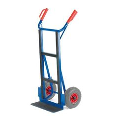 GTARDO.DE:  Gerätekarre C-Profil, Tragkraft 250 kg, Luft, Maße 660x440 mm, Schaufel 450x150 mm 208,00 €