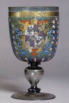 Love the designs on this....Armorial Goblet, Germany 1592, The Metropolitan Museum of Art