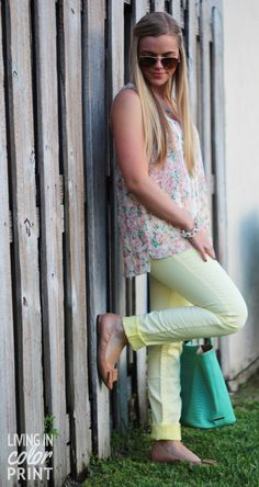 Bloggers do denim with Silver Jeans Co.  & @Kristin Clark   Living In Color Print with Living in Color Print! #suki #denim